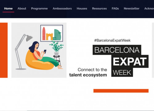 Barcelona Expat Week 2020 (image taken as screenshot from website)