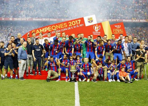 Barça become the first side since the 1950s to win the Copa del Rey three years in a row, on Luis Enrique's last game in charge (by FCB)