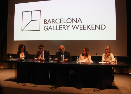 Art Barcelona's President, Joan Anton Maragall at Barcelona Gallery Weekend's presentation (by ACN)
