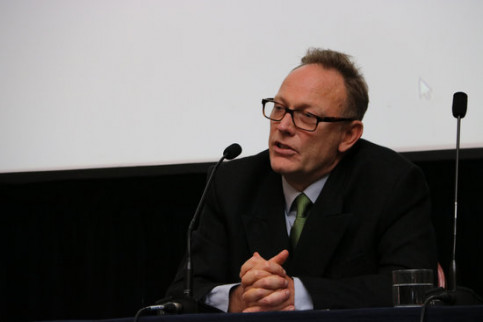 Lawyer Ben Emmerson speaking at a press conference in London