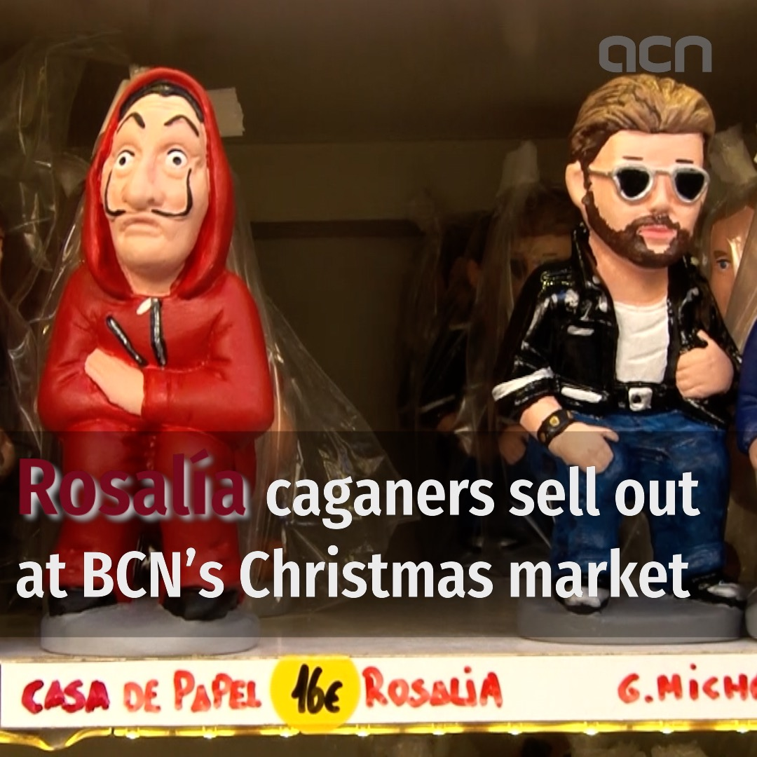 Rosalía 'caganers' sell out at Barcelona's Christmas market