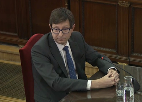 Carles Mundó testifies in the Catalan trial in the Spanish Supreme Court on February 20 2019