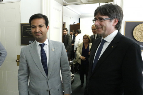 Catalan President, Carles Puigdmeont and the US Congressman for Florida, Carlos Culbero (by ACN)