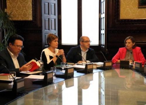 Catalan Parliament Bureau meeting during the controversy