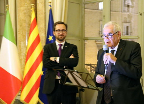 Catalan foreign affairs minister Ernest Maragall reopens a delegation in Rome on October 29 2018 (by Blanca Blay)