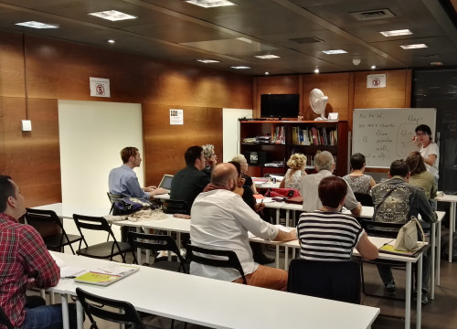 Catalan language students at Madrid's Blanquerna Cultural Center and Bookstore (Blanquerna)