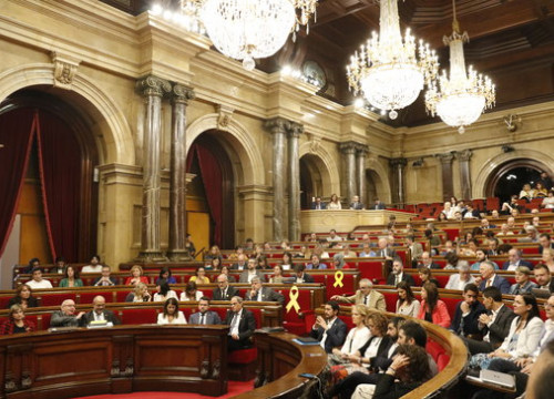 Catalan parliament session on September 25, 2019 (by Gerard Artigas)