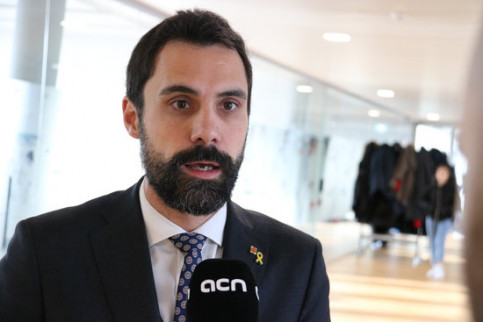 Catalan parliament speaker Roger Torrent at the Francophonie Parliamentary Assembly in Switzerland (by Alan Ruiz Terol)