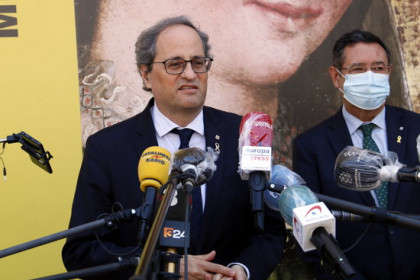 Catalan president Quim Torra at an event in Lleida on June 26, 2020 (by Laura Cortés)