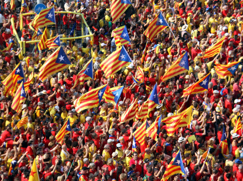 Massive rally on Catalonia's National Day (by ACN)