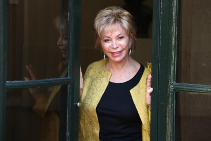 Chilean writer Isabel Allende in Barcelona on November 4, 2019 (by Pau Cortina)