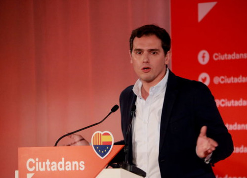 Ciutadans president Albert Rivera on February 17 2019 (by Aina Martí)