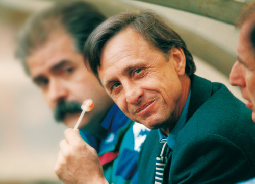 Cruyff during his time as manager (by FCB)