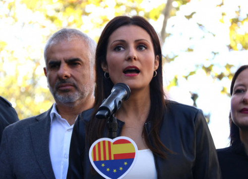 Cs head Lorena Roldán at a campaign event ahead of the November 2019 general election (by Guifré Jordan)