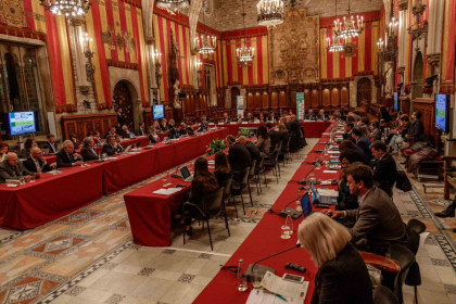 The Alliance of European Cities Against Violent Extremism meeting in Barcelona on Wednesday (Ada Colau, Twitter)