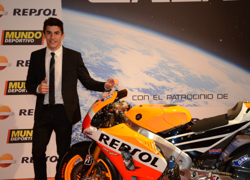 Catalan motor cycle rider Marc Márquez (by Eloy Jorge & Alba Barrionuevo)