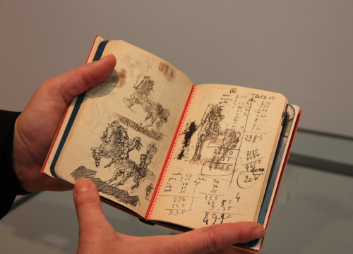 Image of an unpublished diary by Salvador Dalí, to be auctioned in Paris (by ACN)