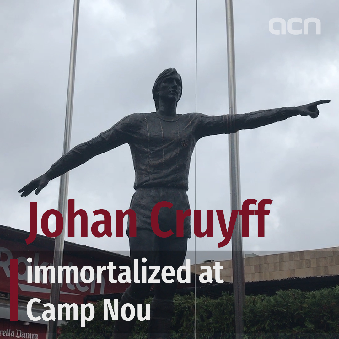 Johan Cruyff immortalized at Camp Nou