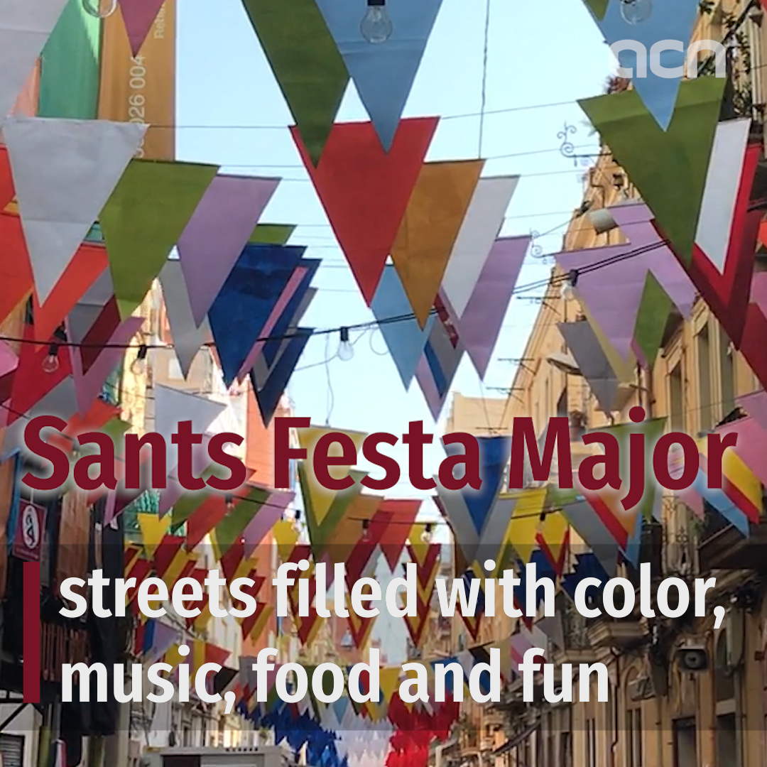 Sants Festa Major: streets filled with color, music, food and fun