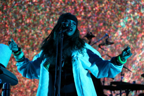 Erykah Badu in concert on the first full day of Primavera Sound