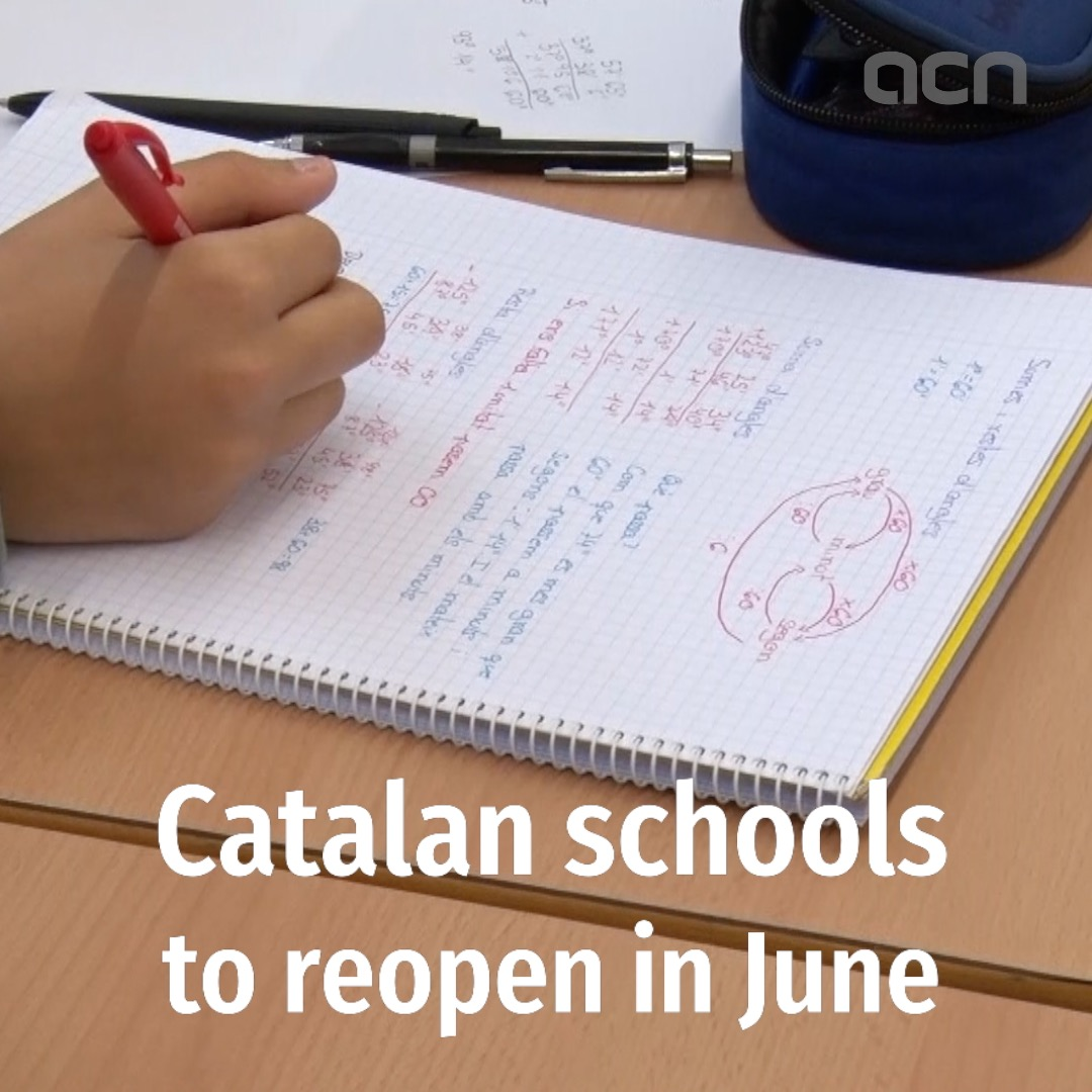Catalan schools will reopen in June