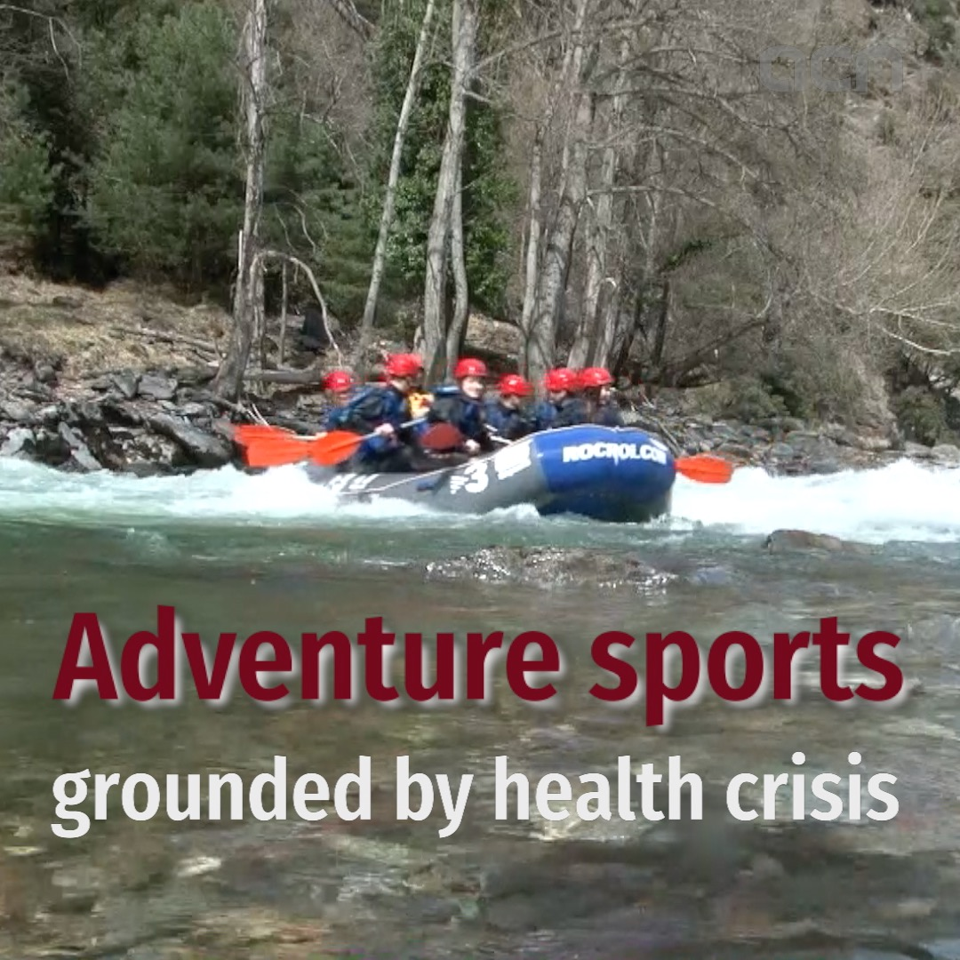 Adventure sports grounded by health crisis