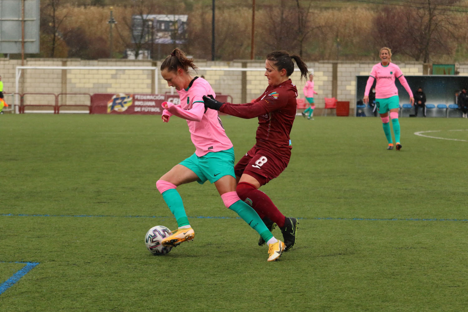 FC Barcelona Femení in action in their record-breaking win away to Logroña (image from FC Barcelona)