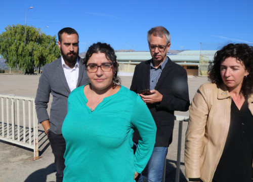 Eva Pous and the other lawyers of the CDR activists accused of terrorism outside the Soto del Real prison (by Roger Pi de Cabanyes)