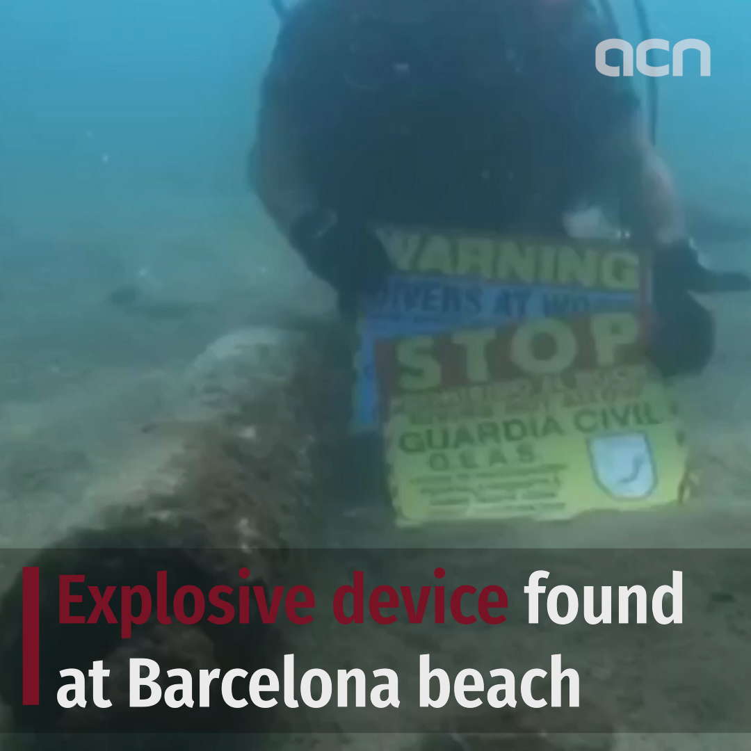 Explosive device found at Barcelona beach