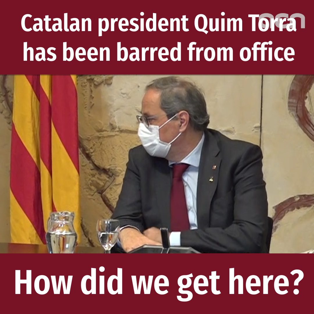 Catalan president Quim Torra barred from office by Supreme Court