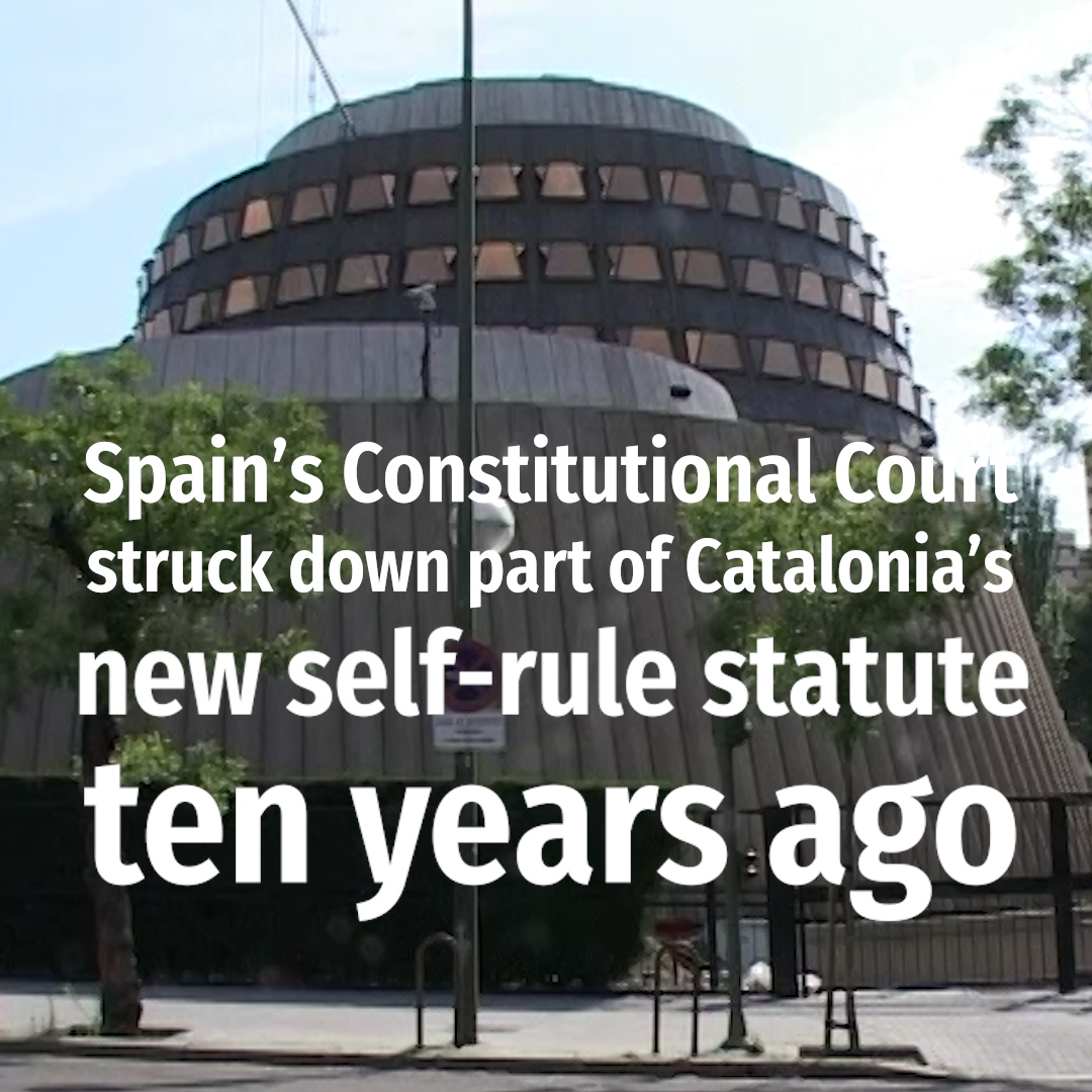 Ten years on from the ruling on the Catalan statute