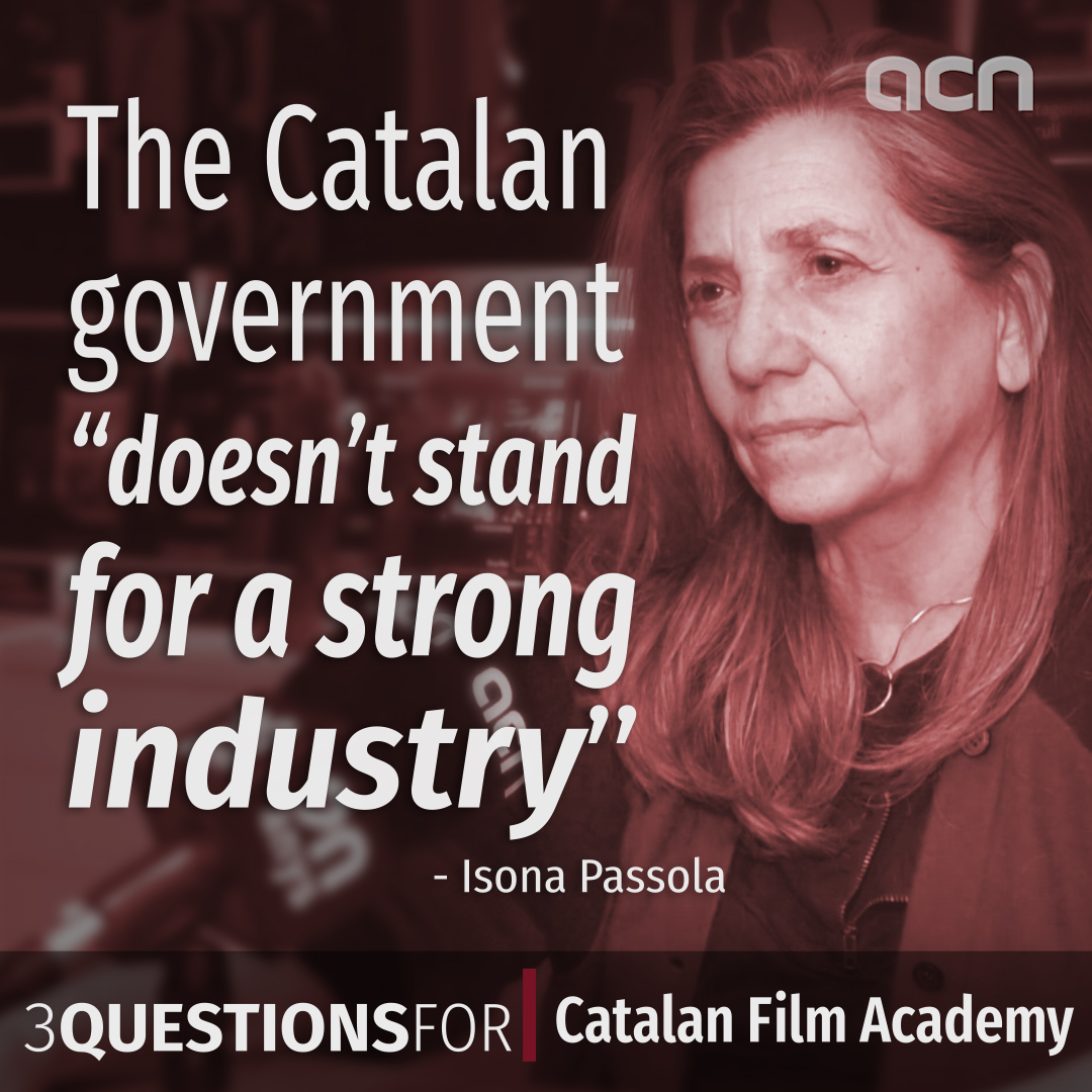 Catalan Film Academy president: the Catalan government 'doesn't stand for a strong industry'
