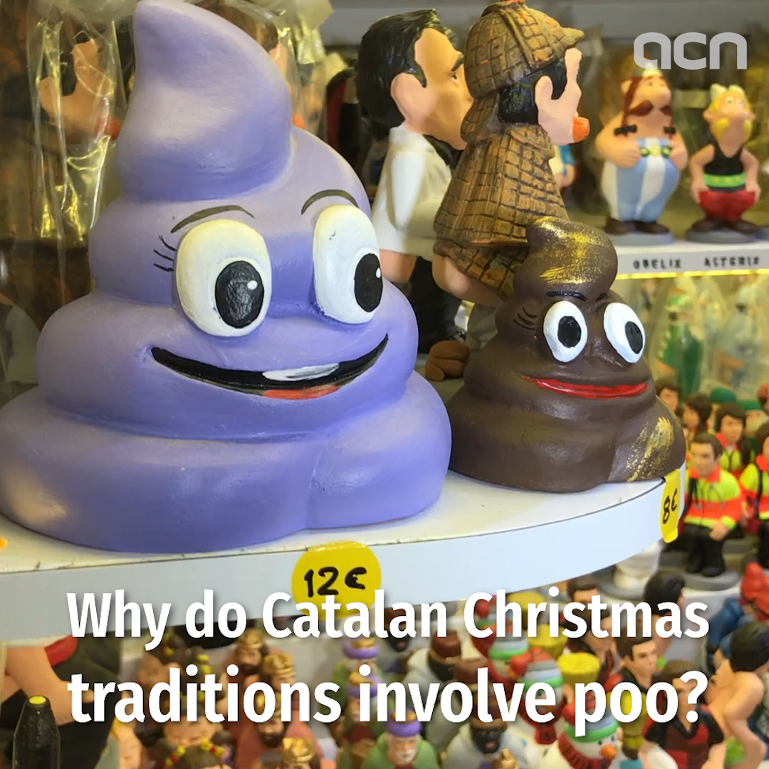 Why do Catalan Christmas traditions involve poo?