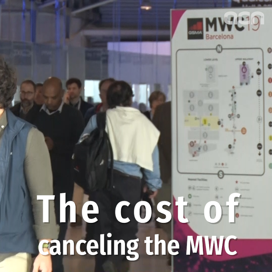 Economic hit of the cancellation of the Mobile World Congress
