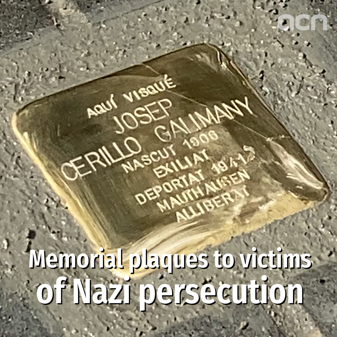 Memorial plaques to victims of Nazi persecution