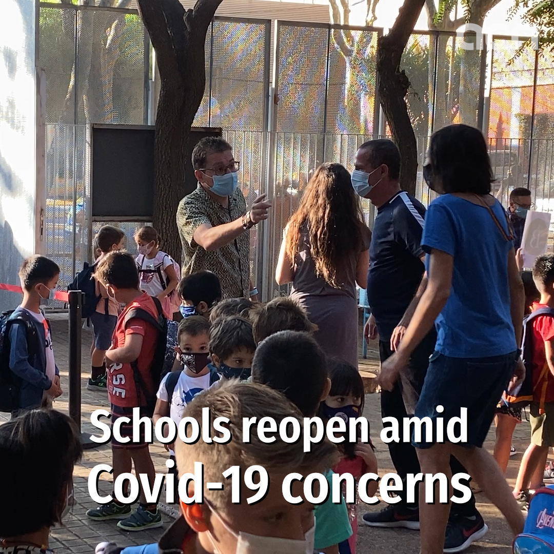 How the first day back in school amid Covid-19 worries went