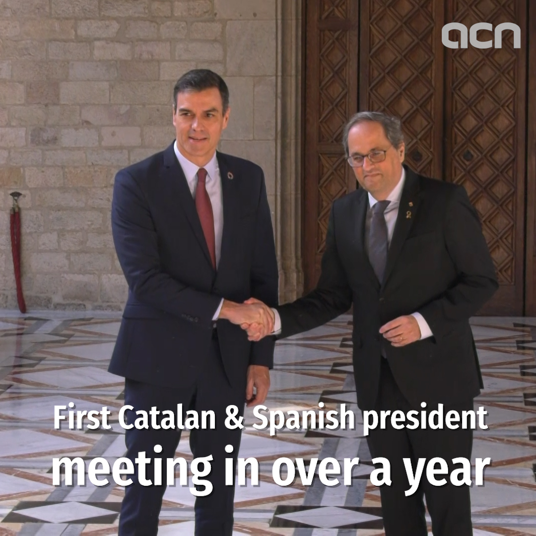 Torra and Sánchez meet in Barcelona, agree to start bilateral negotiation table this February