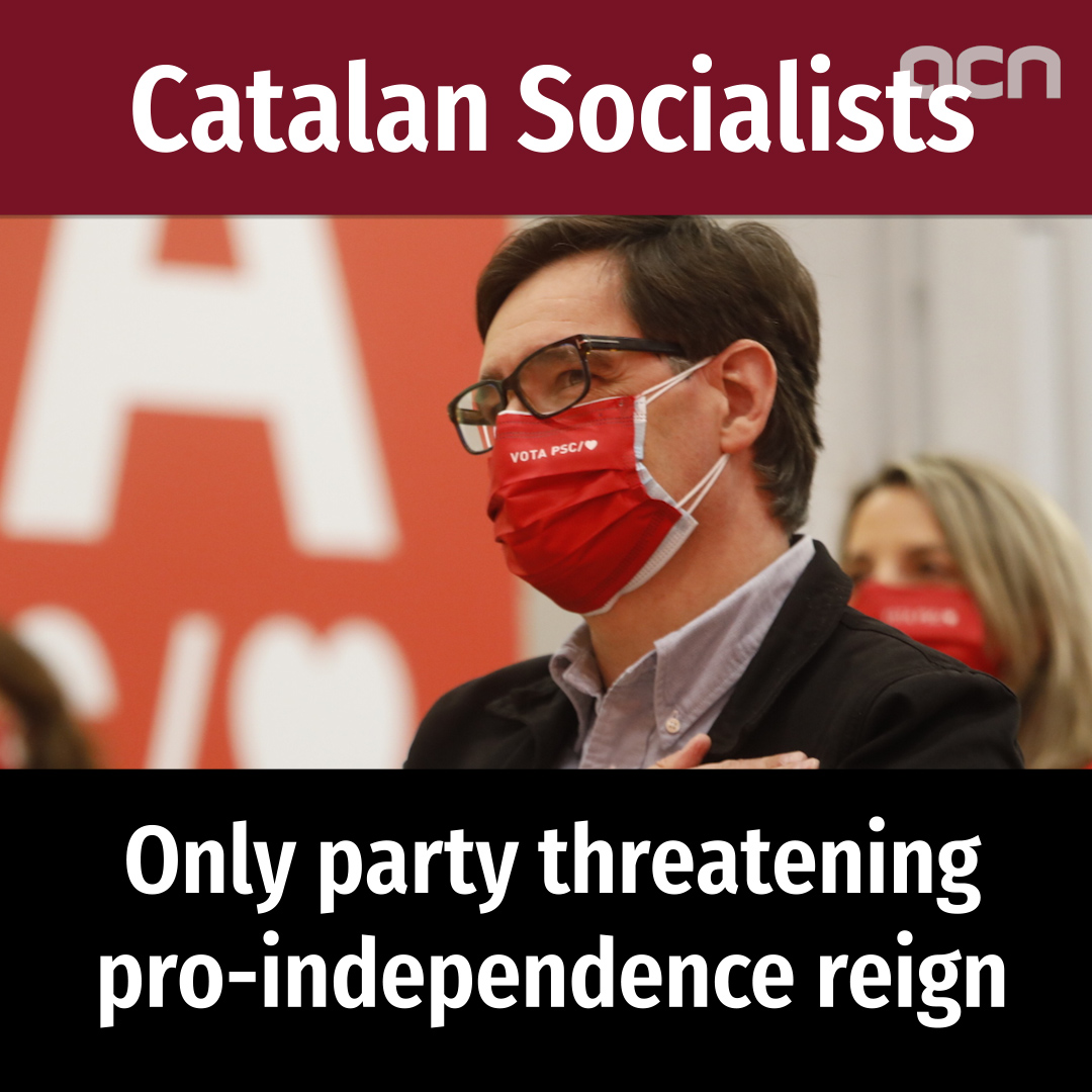 Catalan Socialists: Only party threatening pro-independence reign