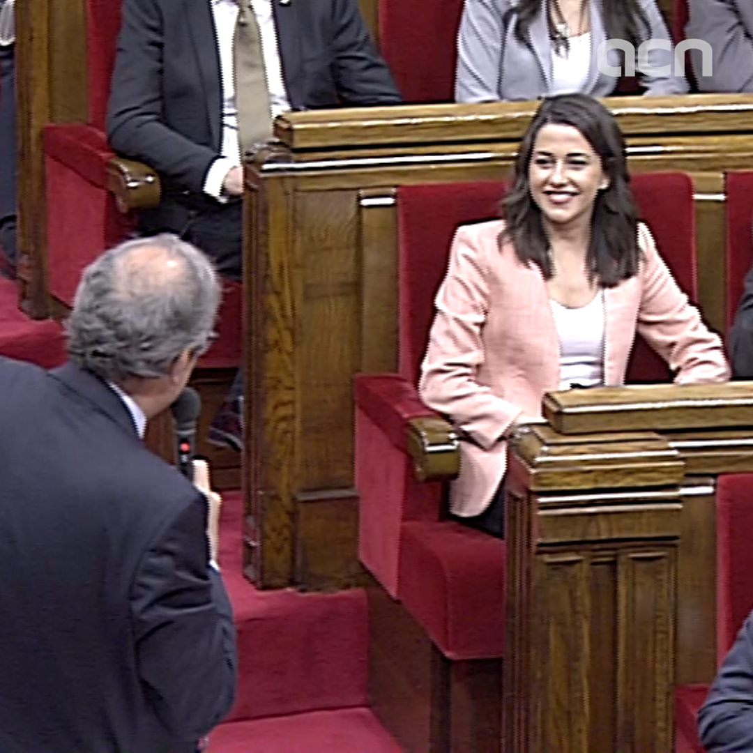 Last parliamentary clash between Torra and Arrimadas