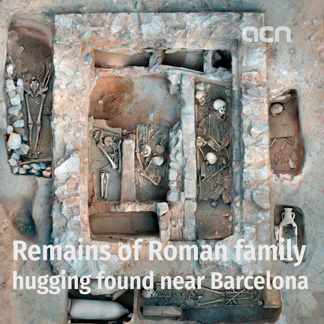 Remains of Roman family hugging found near Barcelona