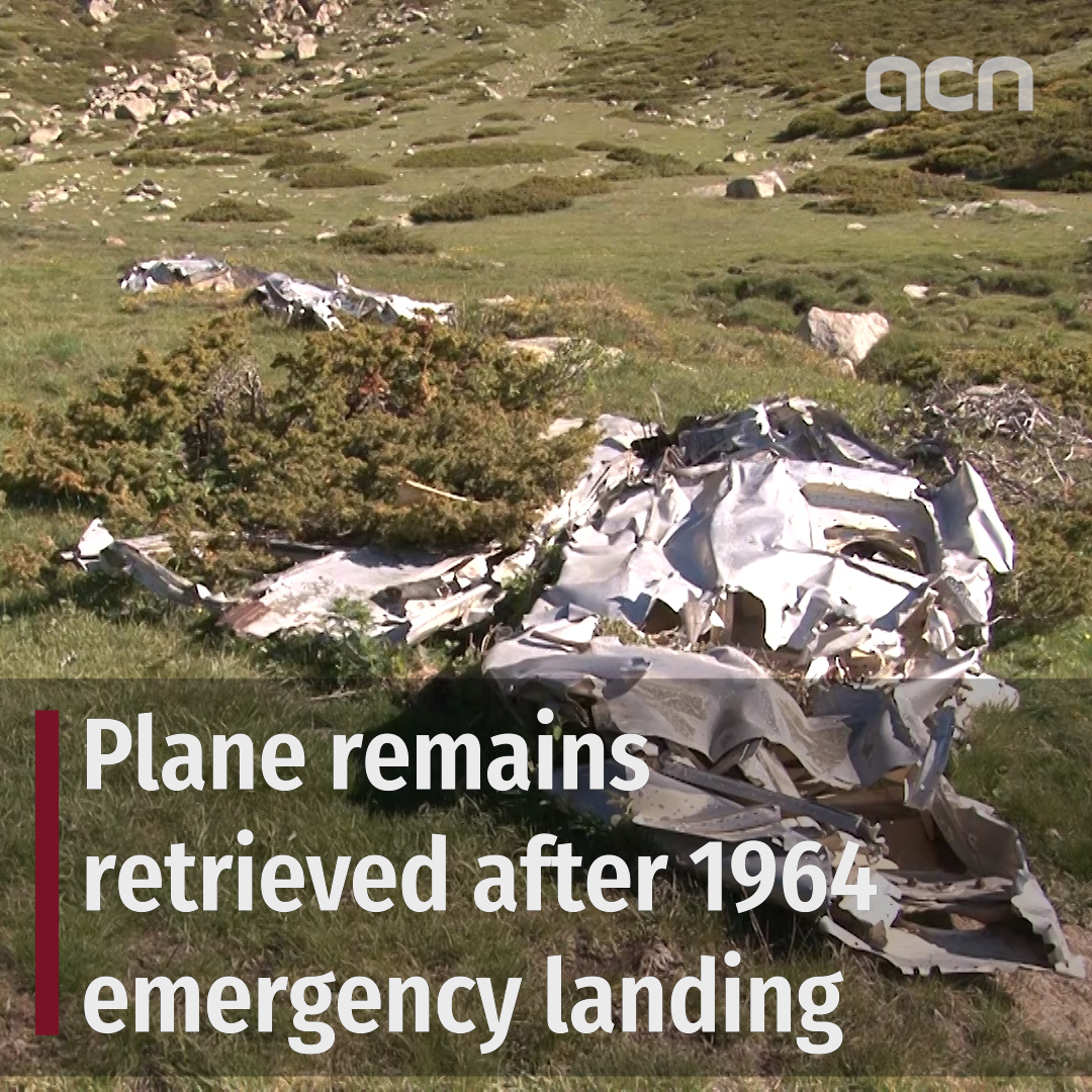 Plane remains retrieved after 1964 emergency landing