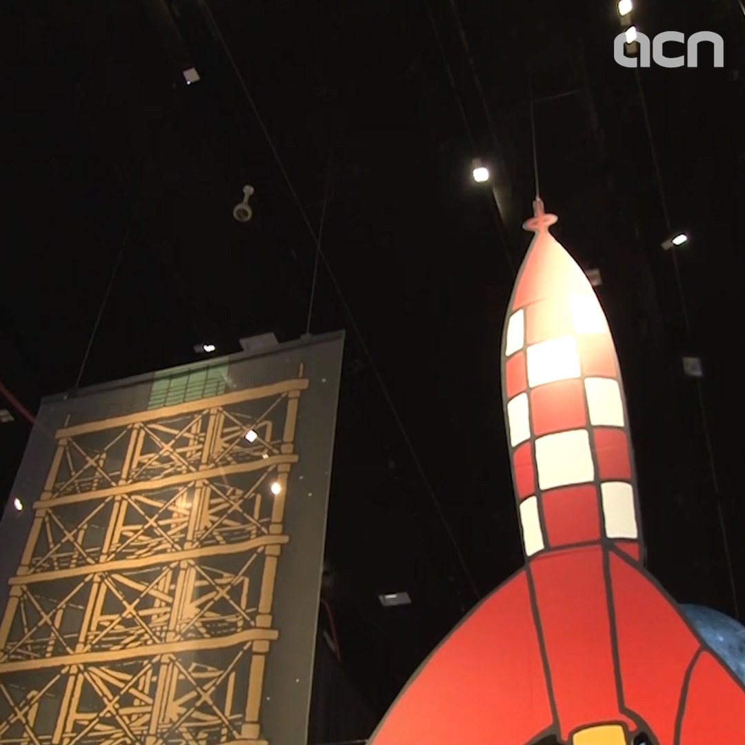 Tintin stars in exhibit on 50th anniversary of manned Moon landing