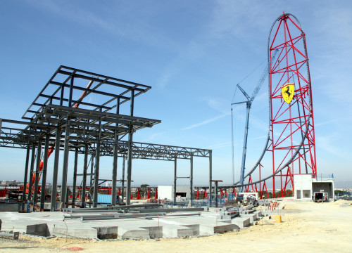 'Cavallino Rampante', Europe's tallest rollercoaster, will be one of Ferrari Land's main attractions (by ACN)