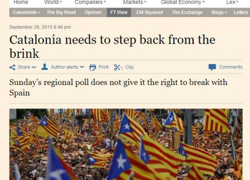Financial Times editorial on 27-S results