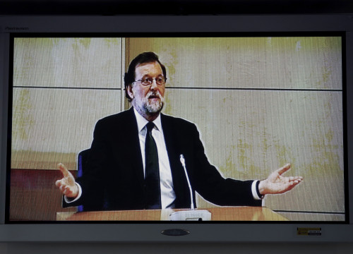 Former Spanish president testifies in the Gürtel case on July 26 2017 (ACN and Pool EFE)