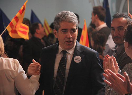 Democràcia i Llibertat's candidate for Barcelona to run for the Spanish Elections, Francesc Homs (by ACN)