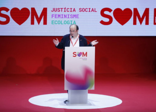 Head of the Catalan Socialists Miquel Iceta speaking at his party's 14th convention (by Gerard Artigas)