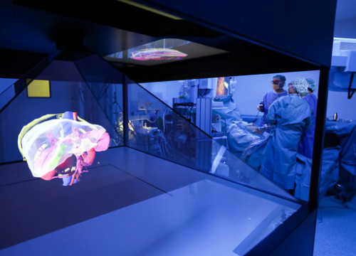 Hologram used to perform complex surgery (Courtesy of  Hospital de Sant Pau)