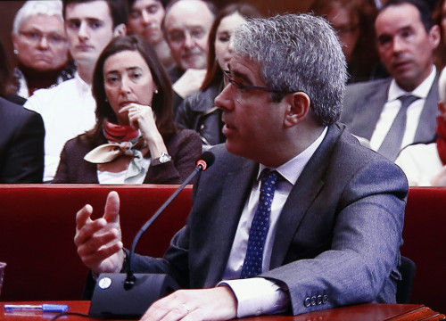 Former Catalan Minister for Presidency and current Catalan European Democratic Party (PDCeCAT) spokesperson in the Spanish Parliament, Francesc Homs, testified before Barcelona's High Court over 9-N symbolic vote on independence (by ACN),