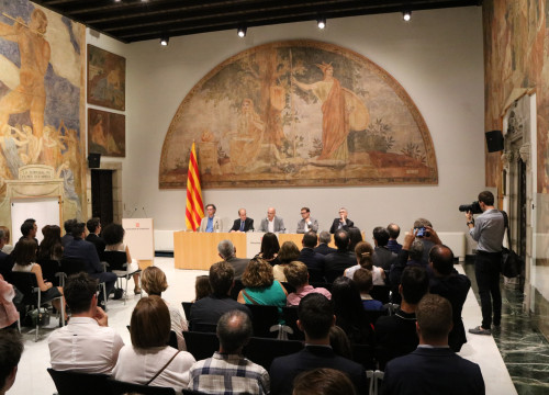The event was held in Palau de la Generalitat